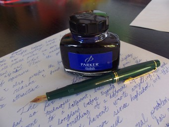 The 78G and a bottle of ink.