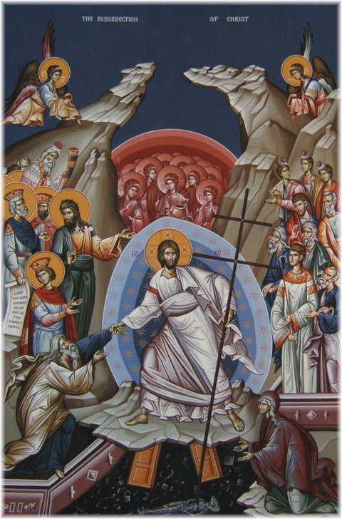 Icon of the Resurrection of Christ from Holy Trinity Serbian Orthodox Church in Butte, Mt
